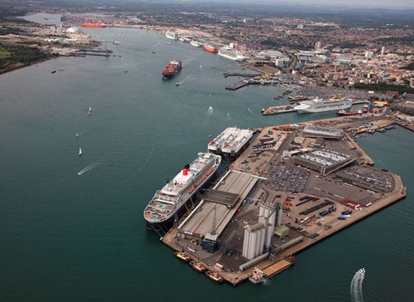 Southampton Port - Aerial view