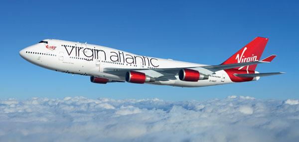 Virgin B747 mid air